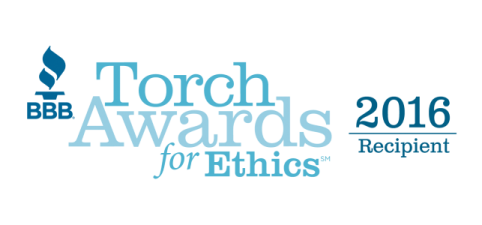 BBB Torch Award for Ethics - 2016 Recipient